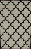 Blair Scroll Beige Black Handmade Persian Style Woolen Area Rug Carpet - TulipFiesta - 2