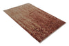 Abstract Rust Color Modern Style Hand Knotted  Woolen Area Rug