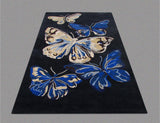 Butterfly Blue Handmade Floral Persian Wool 5 x 8 Living Room Area Rug - TulipFiesta - 3