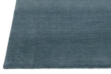 Load image into Gallery viewer, Aqua Blue Gradation Handmade Hand-Loom Modern Wool and Viscose Area Rug Carpet