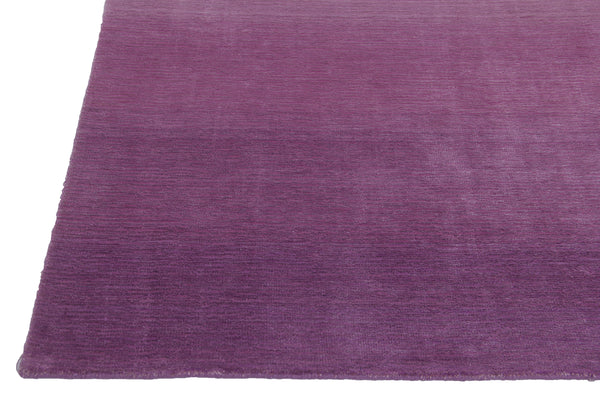 Pink Gradation Handmade Hand-Loom Modern Wool and Viscose Area Rug Carpet