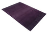 Gradation Purple Color Handloom Modern Style Wool and Viscose Area Rug