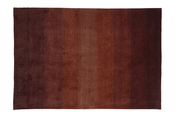 Gradation Red Color Handloom Modern Style Wool and Viscose Area Rug