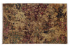 Abstract Gold & Multi Color Modern Hand Knotted Woolen Area Rug
