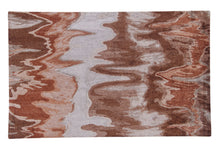 Load image into Gallery viewer, Abstract Brown Multi-Colored Handmade Modern Bamboo Silk Area Rug Carpet