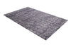 Abstract Grey & Charcoal Color Hand Tufted Modern Style Bamboo Silk Area Rug