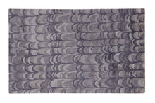 Load image into Gallery viewer, Abstract Grey / Charcoal Handmade Modern Bamboo Silk Area Rug Carpet