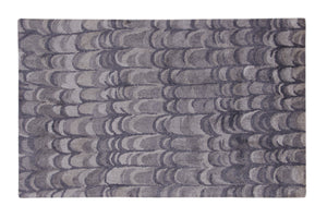 Abstract Grey / Charcoal Handmade Modern Bamboo Silk Area Rug Carpet