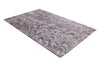 Abstract Purple & Brown Color Hand Tufted Modern Style Bamboo Silk Area Rug
