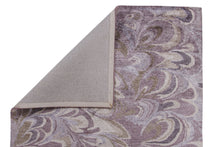 Load image into Gallery viewer, Abstract Purple / Brown Multi-Colored Handmade Modern Bamboo Silk Area Rug Carpet