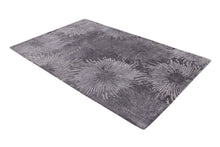 Load image into Gallery viewer, Abstract Charcoal Multi-Colored Handmade Modern Bamboo Silk Area Rug Carpet