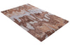 Abstract Brown Color Hand Tufted Modern Style Bamboo Silk Area Rug
