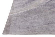 Load image into Gallery viewer, Abstract Grey Multi-Colored Handmade Modern Bamboo Silk Area Rug Carpet