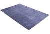 Abstract Blue Color Hand Tufted Modern Style Bamboo Silk Area Rug