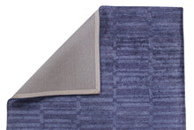 Load image into Gallery viewer, Abstract Indigo Blue Handmade Modern Bamboo Silk Area Rug Carpet