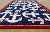 Boat and Anchor Rug Blue Handmade Persian Style 100% Wool Area Rug - TulipFiesta - 3