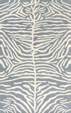 Load image into Gallery viewer, Zebra Kids Pink Gray Blue Persian Style Handmade Woolen Area Rug - TulipFiesta - 7
