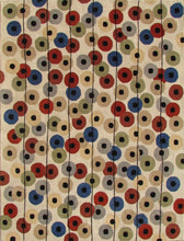 Load image into Gallery viewer, Multi Colored Polka Dots Beige Handmade Persian Style Wool Area Rugs - TulipFiesta - 3