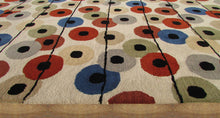 Load image into Gallery viewer, Multi Colored Polka Dots Beige Handmade Persian Style Wool Area Rugs - TulipFiesta - 2