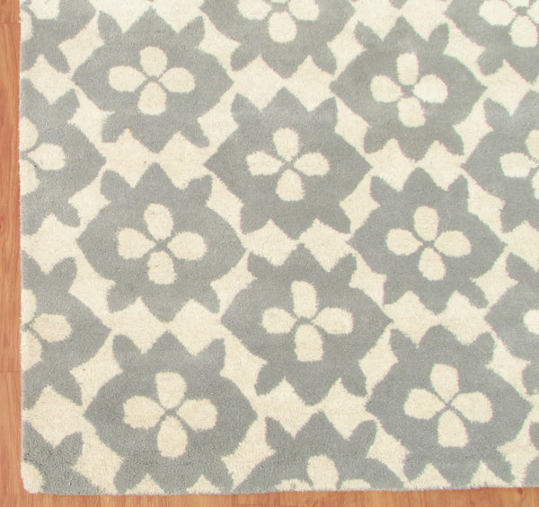 Diamond Basic Porcelain Blue Persian Style Wool Area Rug
