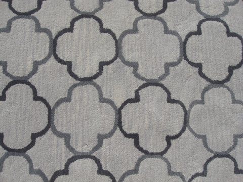 Blair Scroll Emma Grey Color Hand Tufted Persian Style Woolen Area Rug