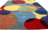New Wave Multi Colored Contemporary Style Woolen Area Rug Carpet - TulipFiesta - 3