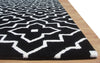 Lilly Back Color Hand Tufted Modern Style Woolen Area Rug