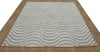 New Wave Porcelain Blue Color Hand Tufted Modern Style Woolen Area Rug