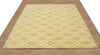 Moroccan Scroll Tile Riyana Yellow Color Hand Tufted Persian Style Woolen Area Rug