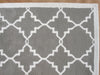 Lattice Grey Color Hand Tufted Persian Style Woolen Area Rug