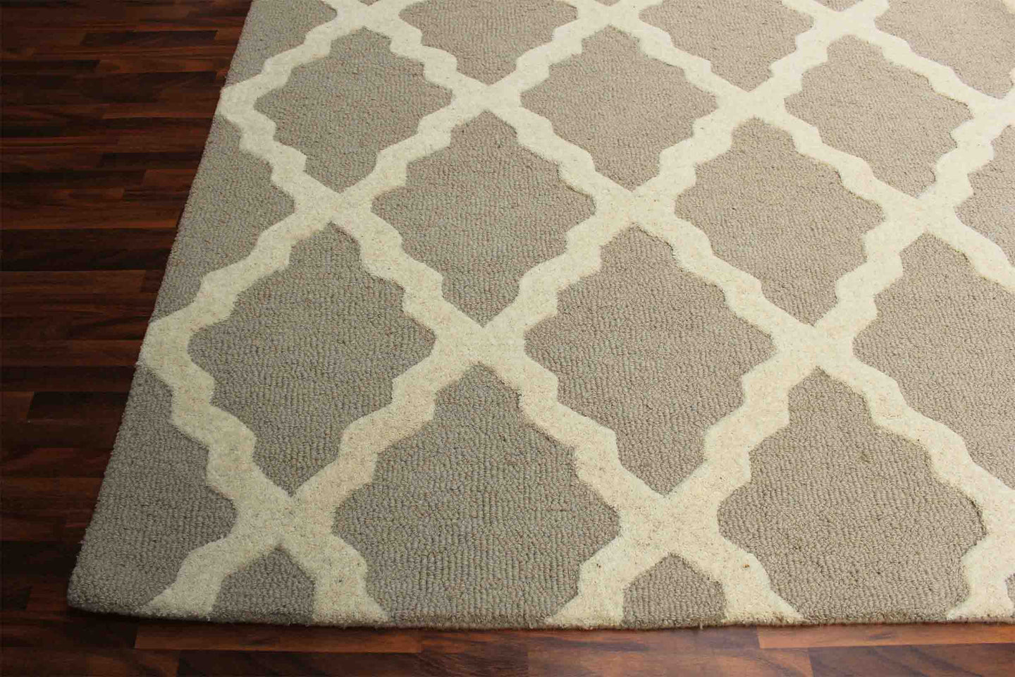 Grill Brown 5 x 8 Floral Persian Style Wool Area Rug - TulipFiesta - 1