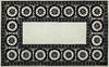 Wheels Black And White 5 x 8 Floral Persian Style Wool Area Rug - TulipFiesta - 2
