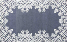 Load image into Gallery viewer, Laguna Blue White Kids 5 x 8 Floral Persian Style Wool Area Rug - TulipFiesta - 2