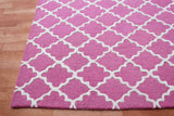 Grill Pink 5 x 8 Floral Persian Style Wool Area Rug - TulipFiesta - 1