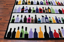 Load image into Gallery viewer, Multi Bottles 5 x 8 Handmade Floral Persian Style Wool Area Rug - TulipFiesta - 1