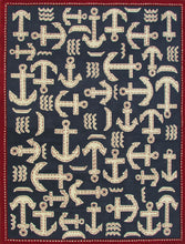 Load image into Gallery viewer, Boat and Anchor Rug Blue Handmade Persian Style 100% Wool Area Rug - TulipFiesta - 2