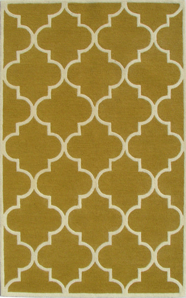 Blair Scroll Gold Handmade Persian Style Woolen Area Rug