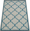 Blair Scroll Ivroy Blue Handmade Persian Style Woolen Area Rug Carpet - TulipFiesta - 2