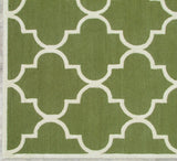 Blair Scroll Green Handmade Persian Style Woolen Area Rug Carpet - TulipFiesta - 1