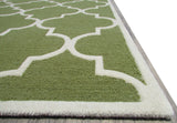 Blair Scroll Green Handmade Persian Style Woolen Area Rug Carpet - TulipFiesta - 5
