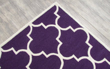 Load image into Gallery viewer, Blair Scroll Purple Handmade Persian Style Woolen Area Rug Carpet - TulipFiesta - 3