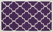 Load image into Gallery viewer, Blair Scroll Purple Handmade Persian Style Woolen Area Rug Carpet - TulipFiesta - 2