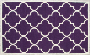 Blair Scroll Purple Handmade Persian Style Woolen Area Rug Carpet - TulipFiesta - 2