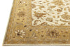 Kahamaria Gold Color Hand Tufted Persian Style Woolen Area Rug