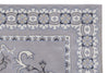 Contemporary Grey Color Hand Tufted Persian Style Bamboo Silk Area Rug