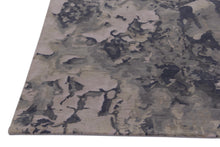 Load image into Gallery viewer, Abstract Modern Grey and Multi-Colored Indo-Tibetian Handmade Wool Area Rug Carpet