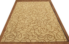 Load image into Gallery viewer, Contemprory Brown Handmade Modern Style Woolen Area Rug Carpet - TulipFiesta - 4