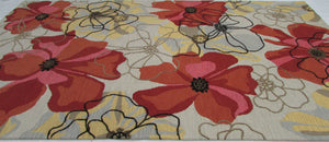 Sand and Summit Multi Colored Floral Persian Style Wool Area Rug - TulipFiesta - 4