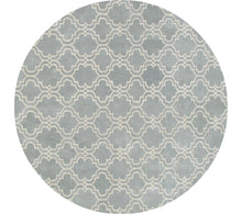 Load image into Gallery viewer, Moroccan Scroll Tile Porcelain Blue Persian Style Wool Area Rug - TulipFiesta - 3