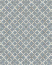 Load image into Gallery viewer, Lattice Squares Porcelain Blue Living Room Wool Area Rug - TulipFiesta - 3